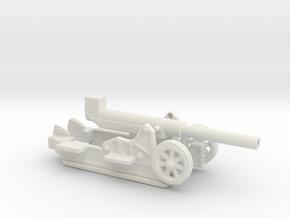 Canon 220L Schneider Model 1917 1/72  in White Natural Versatile Plastic