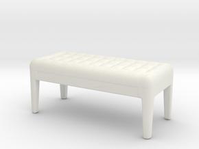 Miniature Webby 1 - Porada in White Natural Versatile Plastic: 1:24