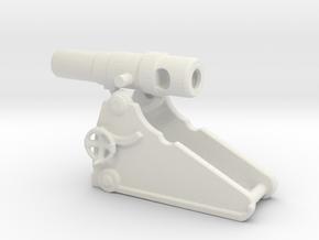 russian heavy 8 inch cannon m 1877 1/200  in White Natural Versatile Plastic