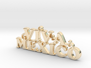 Viva Mexico! Keychain Accesory in 14K Yellow Gold