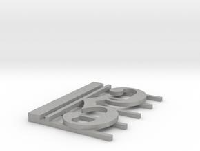 Alto Clef Pendant in Aluminum: Large