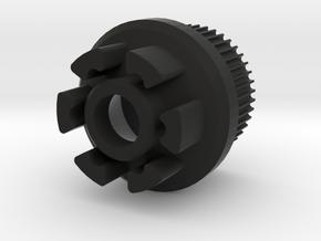 MBS\Flywheel Knockoff Pattern SPEEDHACK (45t - v2) in Black Natural Versatile Plastic