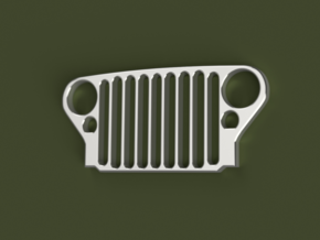 Willys MB / Ford GPW JEEP Grill in Polished Nickel Steel