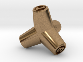 Tetrapod D4 in Natural Brass