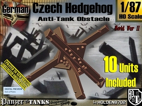 1/87 Anti-Tank Hedgehog set001 in White Strong & Flexible
