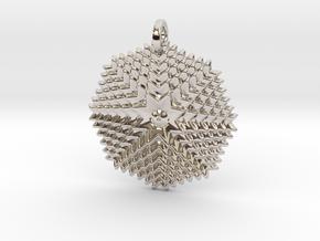 GridFlower Pendant in Platinum