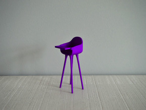 1:12 Highchair complete 2 in Purple Processed Versatile Plastic