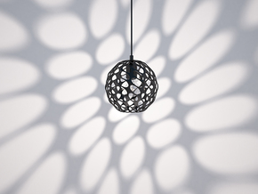 Hedron Series: Pendant Light in White Natural Versatile Plastic