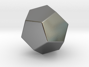 Dodecahedron –Spirit in Polished Silver