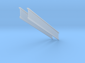 1/64 Railing Stair s scale in Smooth Fine Detail Plastic