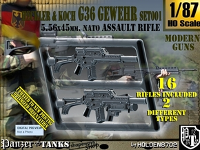 1/87 HK G-36 Rifle Set001 in Smoothest Fine Detail Plastic