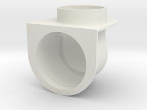 harvest FLO SHELF TM drain tube cover in White Natural Versatile Plastic
