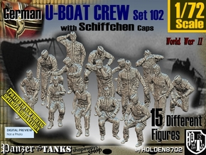 1/72 German U-Boot Crew Set102 in Smooth Fine Detail Plastic