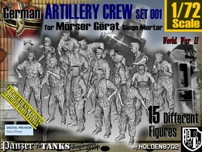 1/72 German Arty Crew Set001 in Smooth Fine Detail Plastic