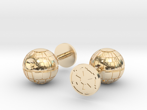 Death Star Cufflinks in 14K Yellow Gold