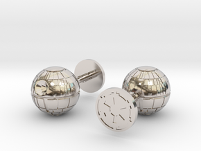 Death Star Cufflinks in Rhodium Plated Brass