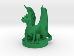 Green Dragon Wyrmling in Green Processed Versatile Plastic