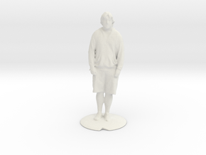 G scale standing man in White Natural Versatile Plastic