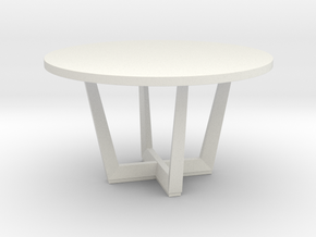Miniature Uves Table - Andreu World in White Natural Versatile Plastic: 1:12