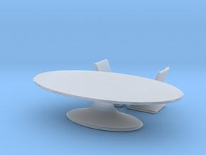Miniature Atlantic Table & 2 Chairs -  Bugatti  in Smooth Fine Detail Plastic: 1:24