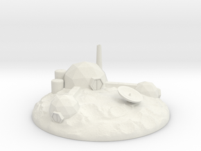 The Asteroid Mining Base (large version)! in White Natural Versatile Plastic