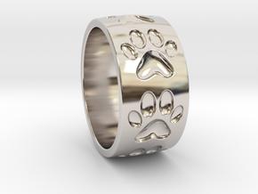 Dog Paw Ring in Platinum: 5 / 49