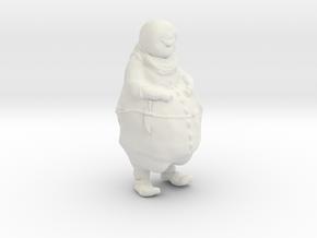 Mouthman in White Natural Versatile Plastic