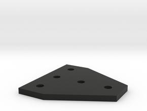 T-Plate for 2020 Aluminum Extrusion in Black Natural Versatile Plastic
