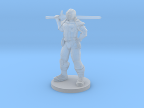 Great Weapon Female Fighter in Smooth Fine Detail Plastic