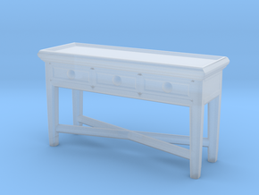 Miniature Console Table 3 Drawers - Dantone Home in Smooth Fine Detail Plastic: 1:24