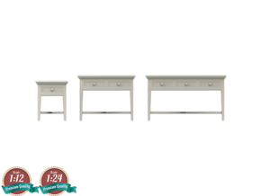 Miniature Dantone Home Console Tables Collections in White Natural Versatile Plastic: 1:24