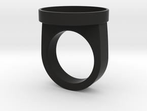 Custom ring 76 US 10 in Black Premium Strong & Flexible