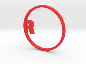 """RONDU Napkin Ring """"R"""" in Red Processed Versatile Plastic"""