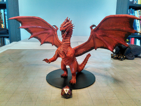 Ancient Red Dragon in Red Processed Versatile Plastic