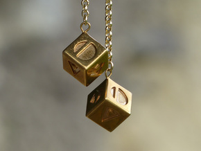Smuggler's Lucky Sabacc Dice, Han Solo, Star Wars in Polished Brass