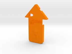 iPhone 4 Splatoon Squid Case in Orange Processed Versatile Plastic