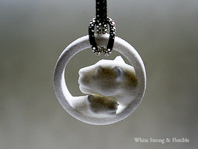 Lioness and Cub Pendant in White Strong & Flexible