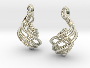 Passionate Fire Earrings in 14k White Gold