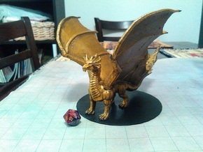 Adult Brass Dragon in Yellow Processed Versatile Plastic