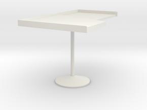 Miniature 840 Stadera Table - Cassina in White Natural Versatile Plastic: 1:12