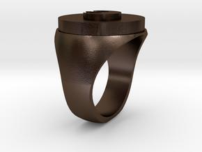 Rebel Resistance Secret Reveal Ring -Base in Polished Bronze Steel