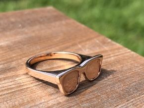Glasses Ring in 14k Rose Gold Plated Brass: 6.25 / 52.125