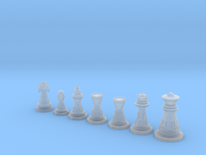 Chessdice (Solid) in Smooth Fine Detail Plastic: Polyhedral Set
