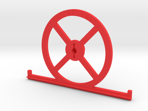 1.8 HD setup wheel with toe plates in Red Processed Versatile Plastic