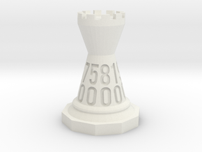 Chessdice (Solid) in White Premium Strong & Flexible: d00