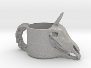 Unicorn Skull Cup in Aluminum