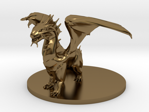 Young Bronze Dragon in Polished Bronze