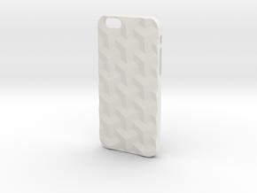 iPhone 6 & 6S case_Cube in White Premium Versatile Plastic