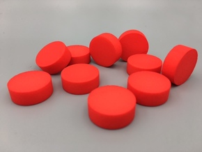 Cylindrical Coin Set - Ratio 1 : 2*sqrt2 in Red Processed Versatile Plastic