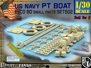 1/30 PT Boat Small Parts Set502 in Smooth Fine Detail Plastic